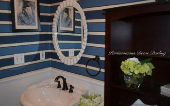 Add Instant Style to a Powder Room With Fabric Walls and Chair Rail
