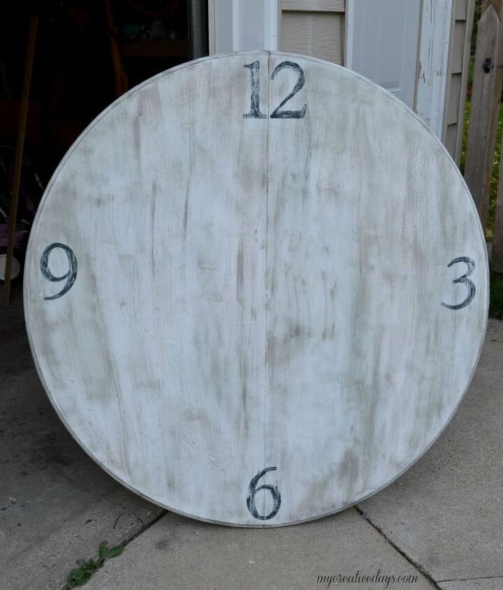repurposed table to diy garden clock, gardening, how to, repurposing upcycling, woodworking projects