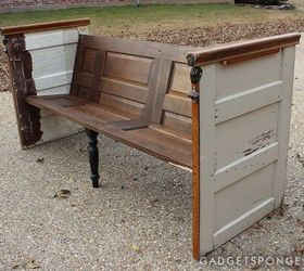 Repurposed Vintage Door Church Pew Bench, Diy, How To, Painted Furniture,  Repurposing