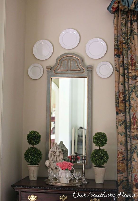 thrift store mirror makeover, home decor, repurposing upcycling, wall decor