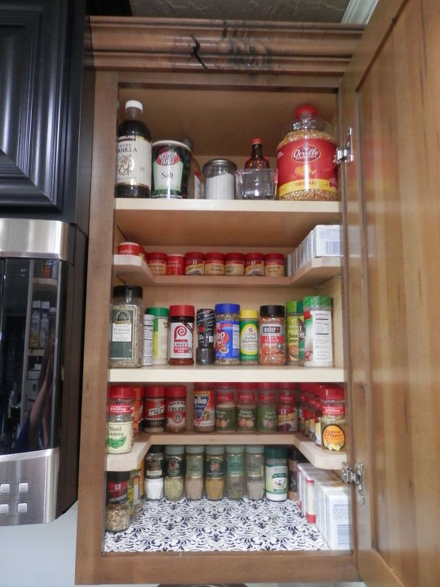 Diy Spicy Shelf Organizer Kitchen Cabinets Organizing Shelving Ideas