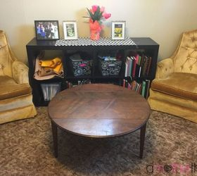 Coffee Table ReVamp Using Wrapping Paper and Mod Podge Hometalk