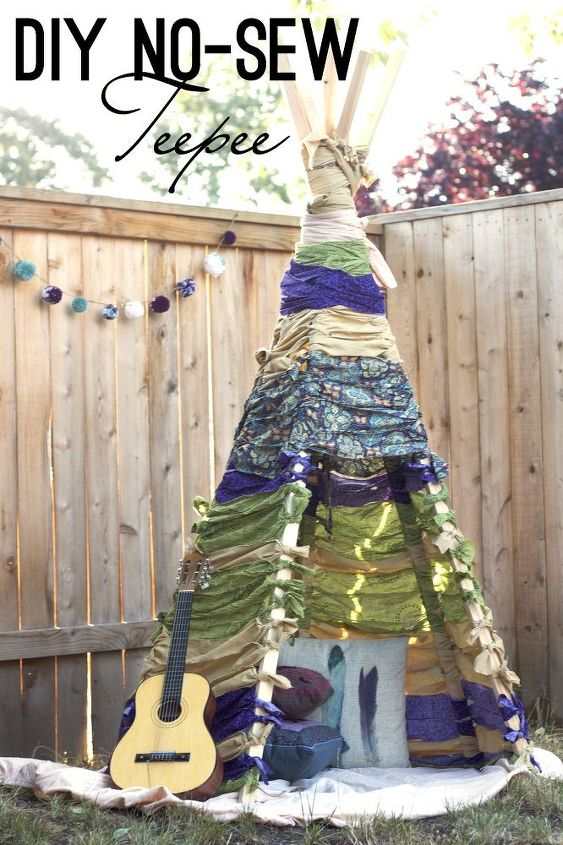 how to make a no sew teepee, how to, outdoor living