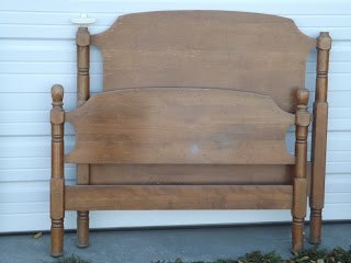 headboard bench, painted furniture, repurposing upcycling