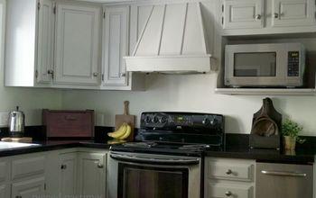 80 s kitchen makeover to cottage style, kitchen cabinets, kitchen design