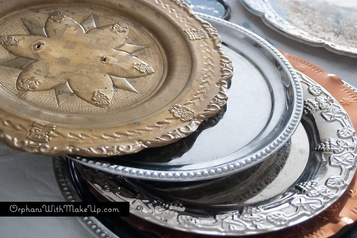 diy plate chargers, home decor, repurposing upcycling