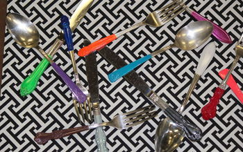 vintage silverware made modern, crafts, repurposing upcycling