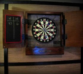 Reclaimed Wood Dartboard Cabinet Diy, Diy, How To, Pallet, Repurposing  Upcycling,