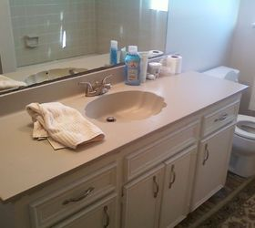 Painting An Ugly Bathroom Vanity Counter, Bathroom Ideas, Countertops,  Painting