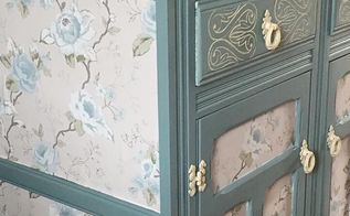persian blue cabinet, painted furniture