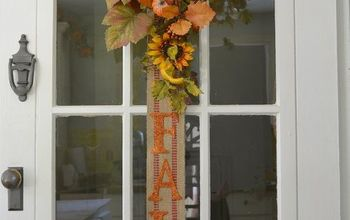 Fall Banner for Your Wall or Door....a Great Alternative to a Wreath!