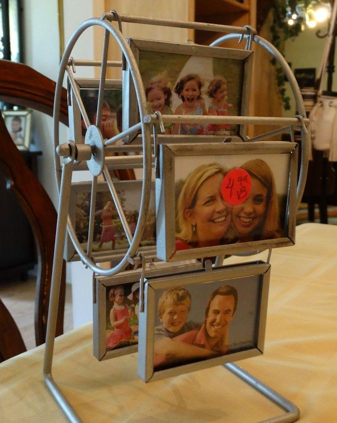 repurposed revolving picture frame to ferris wheel candy holder, crafts, how to, repurposing upcycling