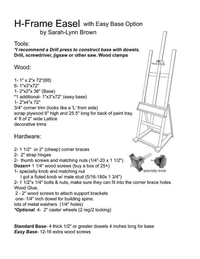 Build It Yourself Painters Easel | Hometalk