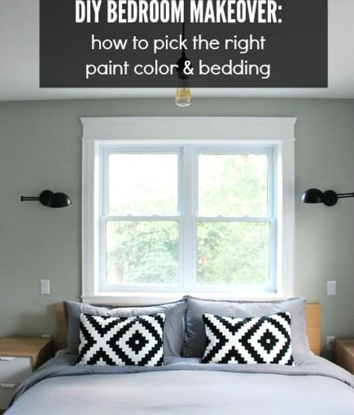 diy bedroom makeover picking paint and bedding, bedroom ideas, paint colors, painting, reupholster