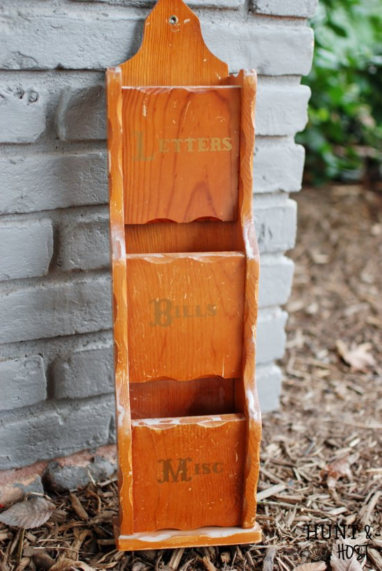 mailbox with recycled hardware, chalk paint, how to, repurposing upcycling, shabby chic