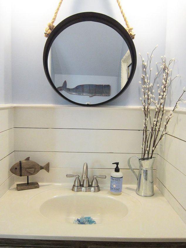 tiny half bath makeover, bathroom ideas, painting, small bathroom ideas