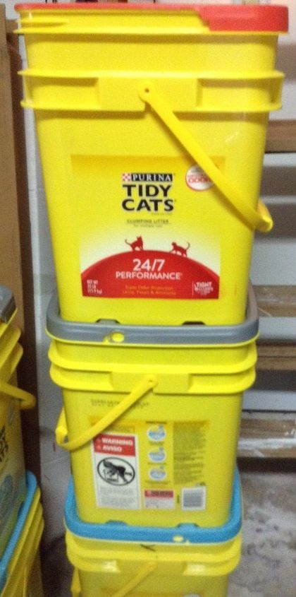 Creative Uses For Empty Cat Litter Buckets Anyone Hometalk