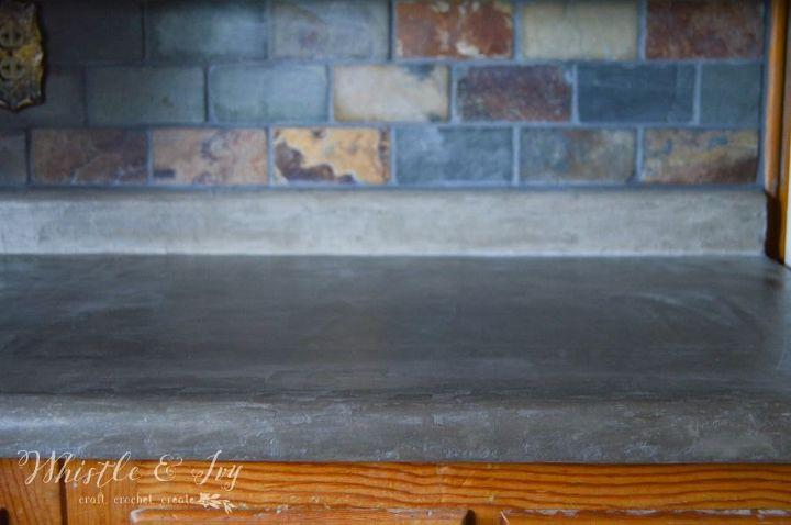 Diy Concrete Counters Over Existing Laminate Hometalk