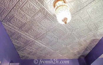 How To Cover A Popcorn Ceiling By Installing Faux Tin