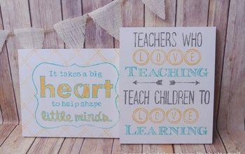 Homemade Teacher Gifts: Easy Wood Sign