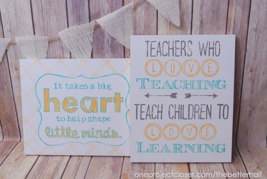 homemade teacher gifts easy diy wood sign, crafts, how to