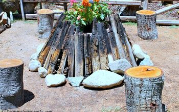 Dual Fire Pit Garden Feature