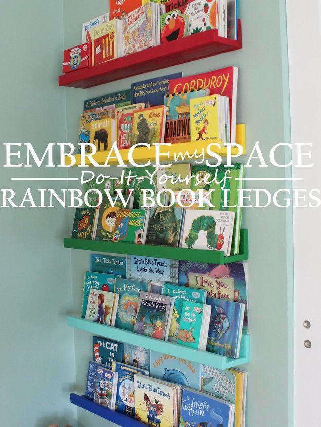 Diy rainbow book ledges for childrens books hometalk diy rainbow book ledges for children s books organizing shelving ideas wall decor solutioingenieria Choice Image