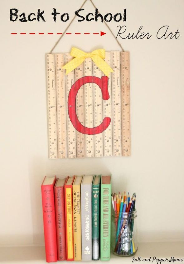 repurposed ruler art teacher gift idea, crafts, how to, repurposing upcycling, wall decor