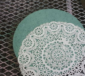 Diy Concrete Molded Outdoor Stepping Stones, Concrete Masonry, Gardening,  Repurposing Upcycling, LACE