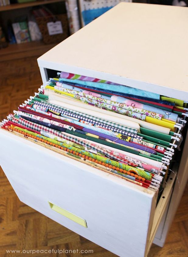 Perfect How To Organize Fabric in a File Cabinet | Hometalk BV78