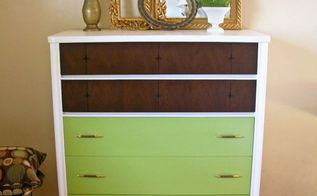 mid century modern to modern day painted dresser, painted furniture