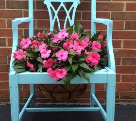 Chair Planter, Container Gardening, Gardening, Repurposing Upcycling