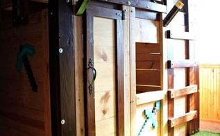diy fort bed for children s bedroom, bedroom ideas, diy, how to, woodworking projects