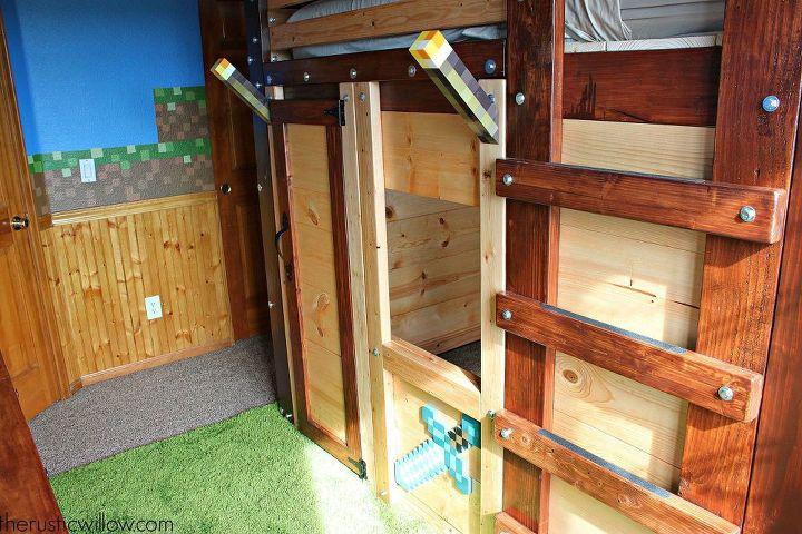 diy fort bed for children s bedroom, bedroom ideas, diy, how to, woodworking projects