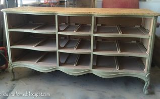 french dresser turned bench, painted furniture, repurposing upcycling