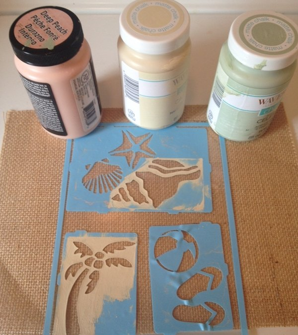 diy chalk painted coastal coasters, chalk paint, crafts, how to