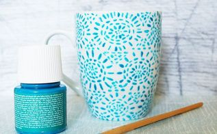 how to paint on mugs, crafts, how to