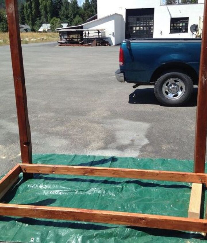 from old door to outdoor buffet, doors, how to, outdoor furniture, repurposing upcycling, woodworking projects