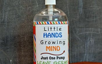 hand sanitizer free printable for teacher gift, crafts, repurposing upcycling