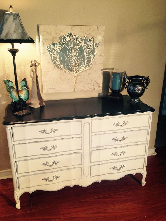dixie vintage french provincial 8 drawer dresser makeover, painted furniture - Dixie Vintage French Provincial 8-drawer Dresser Makeover Hometalk