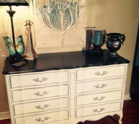 Dixie Vintage French Provincial 8 Drawer Dresser Makeover, Painted Furniture