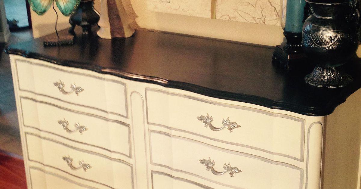 Dixie Vintage French Provincial 8-drawer Dresser Makeover