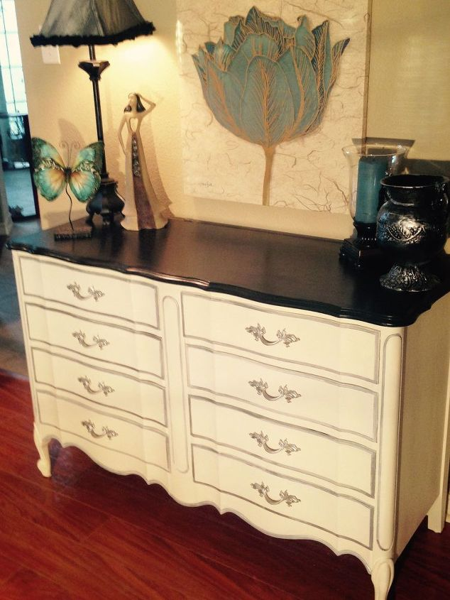 Dixie Vintage French Provincial 8 Drawer Dresser Makeover Painted Furniture