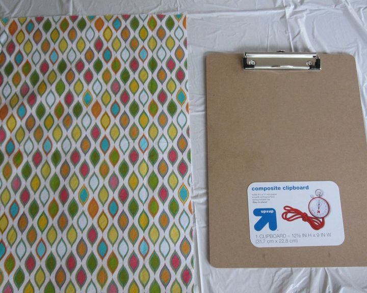 fabric covered clipboards with bottom pockets, crafts, decoupage, how to, organizing