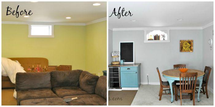 basement makeover part 2, basement ideas, painted furniture, painting