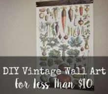 diy vintage wall art for less than 10, crafts, diy, home decor