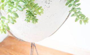 diy mid century modern bullet planter, container gardening, gardening, home decor, how to