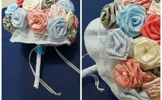 diy fabric flower bouquet, crafts, flowers, how to