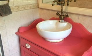 repurposed old dry sink turned bathroom vanity, bathroom ideas, how to, repurposing upcycling