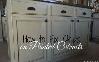 how to touch up chipped paint and maintain painted cabinets, home maintenance repairs, how to, kitchen cabinets, kitchen design